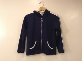 L.L.Sport Funwear Navy Blue White Details Kids Hooded Sweatshirt, size 9/10