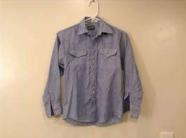 GAP Kids White Blue Striped Shirt Snaps on Front, size 12 - $39.99