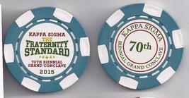 KAPPA SIGMA Fraternity Standard 70th Biennial Grand Conclave 2015 Souvenir Chip - $7.95