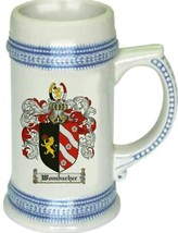 Wombacher Coat of Arms Stein / Family Crest Tankard Mug - $21.99
