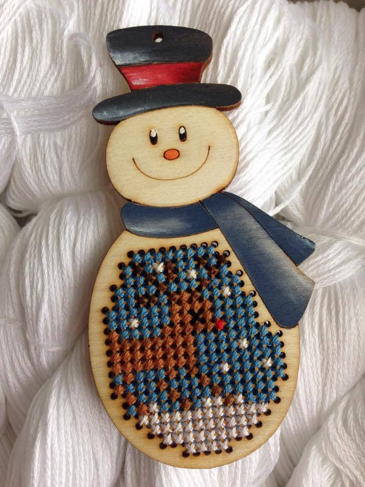 Primary image for Snowman Stitchable Kit cross stitch kit Romy's Creations