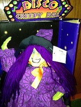 NIB Vintage Halloween  Sound Activated Dancing Witch In A Graveyard Dec... - $19.78