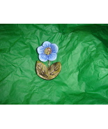 Handcrafted Ceramic Magnet Blue Flower - $4.50