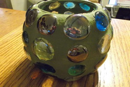 multi-colored candle holder - $20.00
