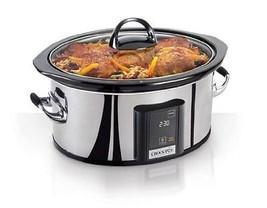 Crock Pot SCVT650-PS 6.5 Quart Touchscreen Programmable Slow Cooker Silv... - $92.47