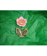 Handcrafted Ceramic Magnet Pink Flower - $4.50
