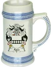 Agea Coat of Arms Stein / Family Crest Tankard Mug - $21.99