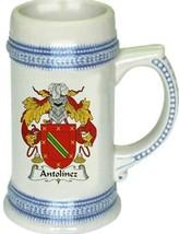 Antolinez Coat of Arms Stein / Family Crest Tankard Mug - $21.99