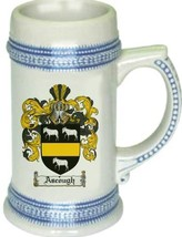 Ascough Coat of Arms Stein / Family Crest Tankard Mug - $21.99