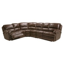 MYCO Furniture Capri Modern  Brown Leather Air Recliner Sectional - $3,050.00