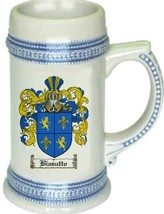 Biasutto Coat of Arms Stein / Family Crest Tankard Mug - $21.99