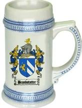 Brandstatter Coat of Arms Stein / Family Crest Tankard Mug - $21.99