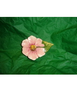 Handcrafted Ceramic Pink Flower Magnet  - $3.50