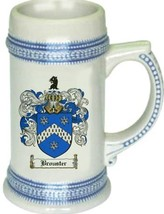 Brouster Coat of Arms Stein / Family Crest Tankard Mug - $21.99