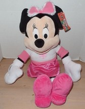 Disney Minnie Mouse Christmas Plush 20 Inches Pink Snowflake Dress NEW - $21.99
