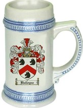 Bulloyne Coat of Arms Stein / Family Crest Tankard Mug - $21.99