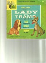 Walt Disney's Story of Lady and the Tramp (24 Page Read-Along Book and Record... - $9.11