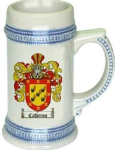 Calderon Coat of Arms Stein / Family Crest Tankard Mug - $21.99