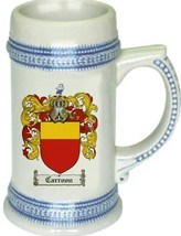 Carroon Coat of Arms Stein / Family Crest Tankard Mug - $21.99