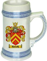 Carruth Coat of Arms Stein / Family Crest Tankard Mug - $21.99