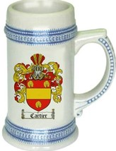 Cartier Coat of Arms Stein / Family Crest Tankard Mug - $21.99