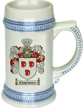 Chaproniere Coat of Arms Stein / Family Crest Tankard Mug - $21.99