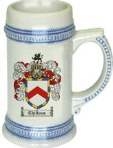 Chiltons Coat of Arms Stein / Family Crest Tankard Mug - $21.99