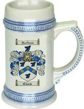 Clark Coat of Arms Stein / Family Crest Tankard Mug - $21.99