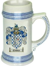 Clewley Coat of Arms Stein / Family Crest Tankard Mug - $21.99