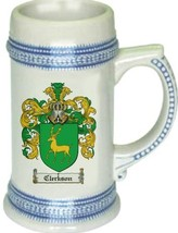 Clerkson Coat of Arms Stein / Family Crest Tankard Mug - $21.99