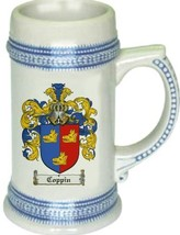Coppin Coat of Arms Stein / Family Crest Tankard Mug - $21.99
