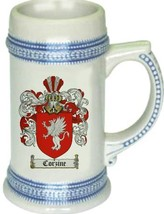 Corzine Coat of Arms Stein / Family Crest Tankard Mug - $21.99