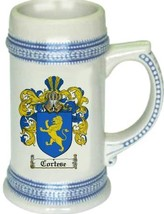 Cortese Coat of Arms Stein / Family Crest Tankard Mug - $21.99