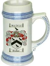 Croker Coat of Arms Stein / Family Crest Tankard Mug - $21.99