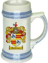 Dauterman Coat of Arms Stein / Family Crest Tankard Mug - $21.99