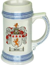 Drain Coat of Arms Stein / Family Crest Tankard Mug - $21.99