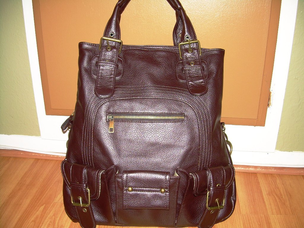 NILA ANTHONY SUPER ROOMY Handbag Chocolate Brown Great for travel!!