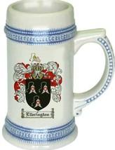 Ellerington Coat of Arms Stein / Family Crest Tankard Mug - $21.99
