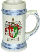 Elson Coat of Arms Stein / Family Crest Tankard Mug - $21.99