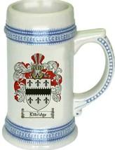 Ettridge Coat of Arms Stein / Family Crest Tankard Mug - $21.99