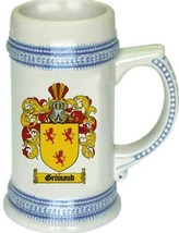 Grimaud Coat of Arms Stein / Family Crest Tankard Mug - $21.99