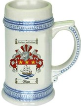 Gun Coat of Arms Stein / Family Crest Tankard Mug - $21.99