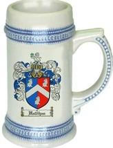Hallihan Coat of Arms Stein / Family Crest Tankard Mug - $21.99