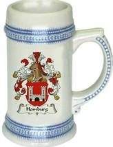Homburg Coat of Arms Stein / Family Crest Tankard Mug - $21.99