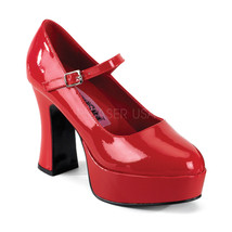"FUNTASMA Maryjane-50 Series 4"" Heel Platform Pump - Red Patent - $44.95"