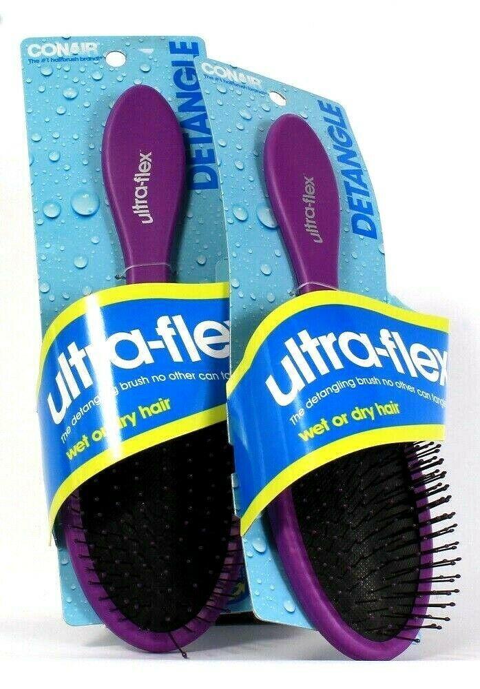 2 Conair Ultra Flex Detangling Brushes for Wet or Dry Hair Ball Tipped Bristles - $19.99