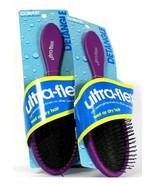 2 Conair Ultra Flex Detangling Brushes for Wet or Dry Hair Ball Tipped B... - $19.99