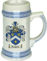 Langlois Coat of Arms Stein / Family Crest Tankard Mug - $21.99