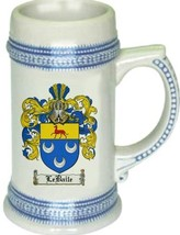 Lebaile Coat of Arms Stein / Family Crest Tankard Mug - $21.99