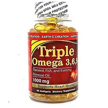 Earth's Creation Flaxseed and Fish Oil - (Triple Omega 3/6/9 with Primrose, 1...